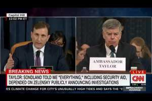 Dem witness admits he has no first-hand knowledge of Ukraine scandal