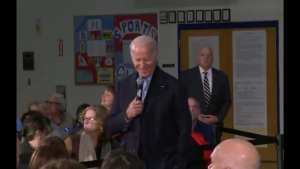 Joe Biden just got heckled by someone who accused him of touching kids