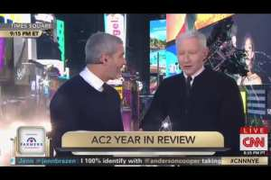 "Anderson Cooper discusses ""who has the biggest cock in Hollywood"" live on NYE"