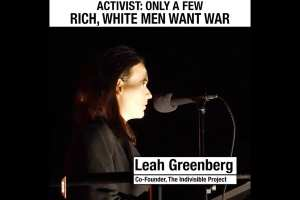 Greenberg: Rich white men want war