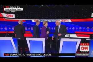 Warren refuses to shake Bernie's hand