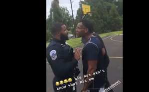 WATCH: Black Cop Sucker Punched For Trying To Enforce Social Distancing Rules
