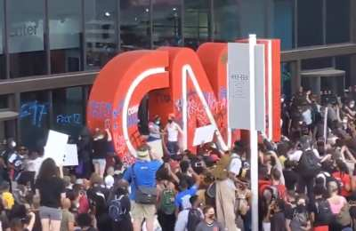 WATCH: Rioters Are Vandalizing, Attempting To Take Over CNN's ATL HQ