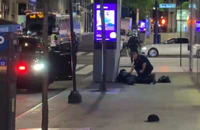 WATCH: NYPD Officer Lay Injured On Madison Avenue
