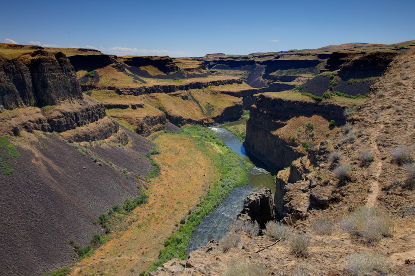 Palouse Falls Canyon by Gary Hamburgh - All Rights Reserved