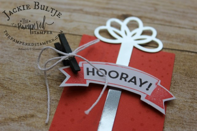 Love those little black clothespins on the present tags from the BIrthday Bright Project Kit.