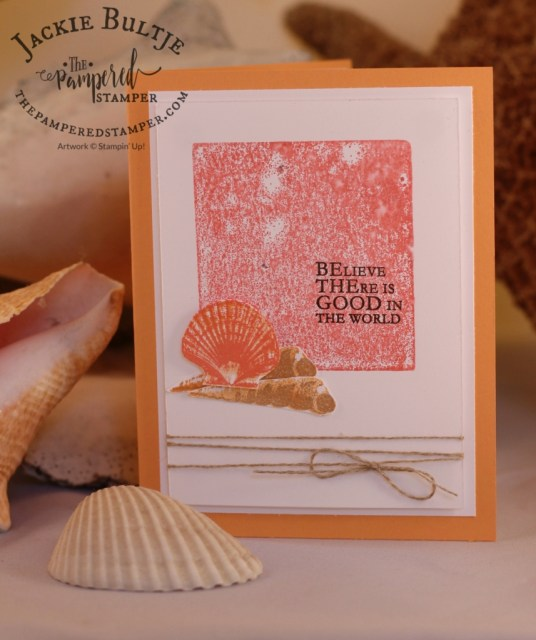 Acrylic block stamping works great with So Many Shells as well.