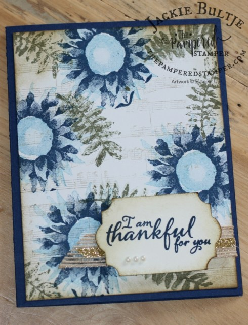 Sheet Music is a great background stamp to pair with Painted Harvest.
