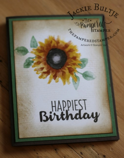 Use the Burlap background stamp to pair with Painted Harvest.