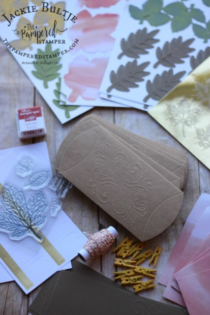 The gold foil leaves are self-adhesive. They are the same size as the thinlets in Colourful Season bundle.