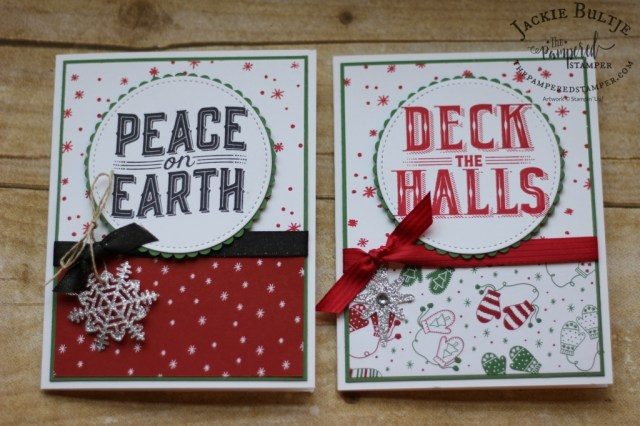 Two versions of the same card using the Be Merry dsp.