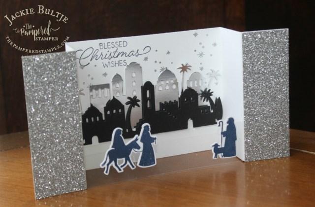 A close up of the Bethlehem bridge fold card