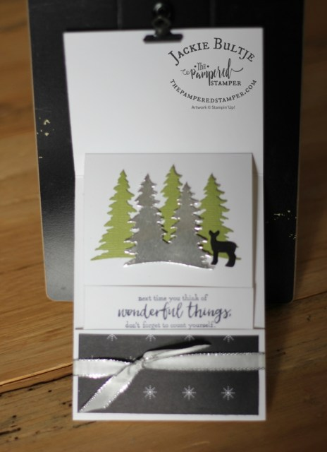 Use the card front builder thinlet dies to make the inside of the card.