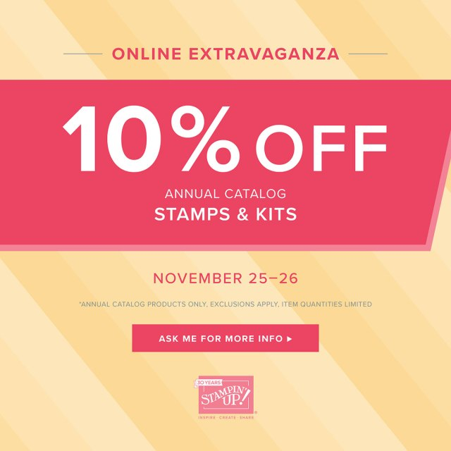 10% off stamp sets from annual catalog today
