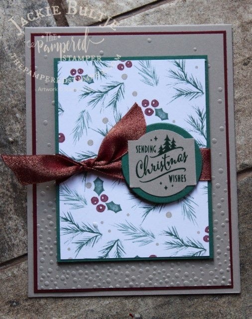 Joyous Noel paper and Christmas Traditions punch box