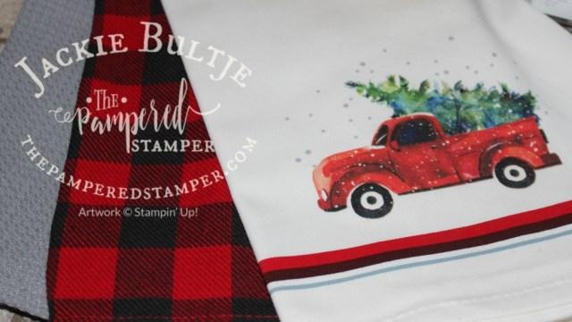 Farmhouse Christmas inspired tea towels