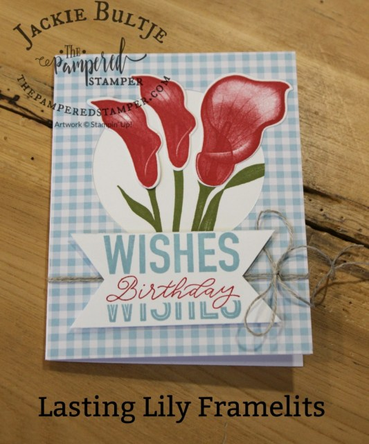 Real red lilies and More than Words stamp set