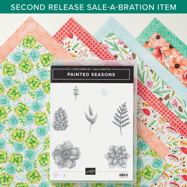 Painted Seasons bundle, free with Saleabration until March 31