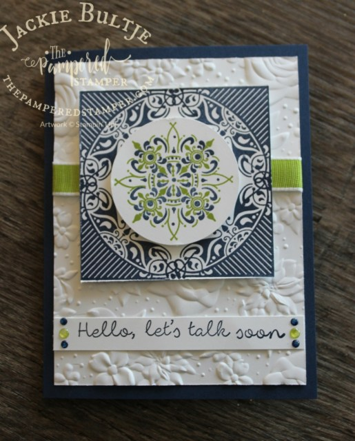 All Adorned and Better Together with the free Country Floral embossing folder
