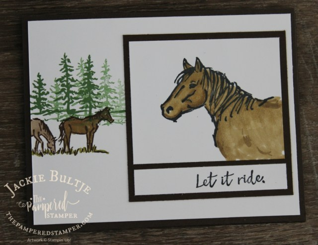 Horses in the meadow with Blends.