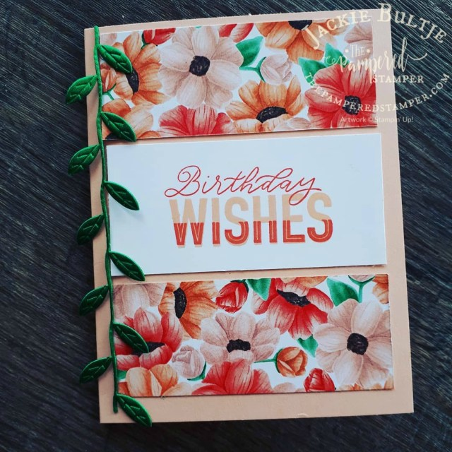 More strips of paper for another simple but pretty card.