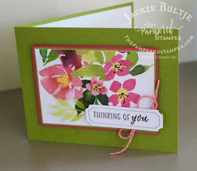 The other half of the card front in Blissful Blooms Paper Pumpkin kit