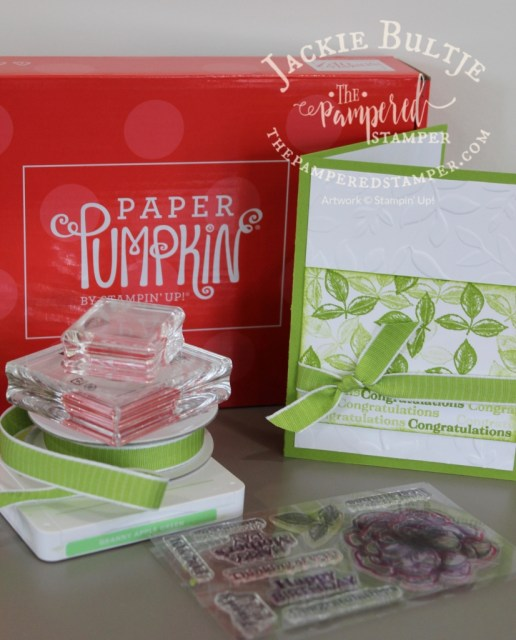 For this card I just used the leaf stamp from Sentimental Rose Paper Pumpkin
