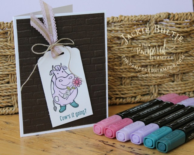 Purple Posy cow with Pretty Peacock boots and rococo rose flower. Our new Blends are amazing!