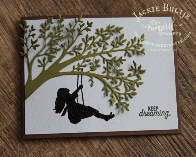 Here you can see the gorgeous leafy tree branch from the Silhouette Scenes bundle