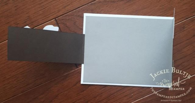 Inside of Happy Tails fancy fold card