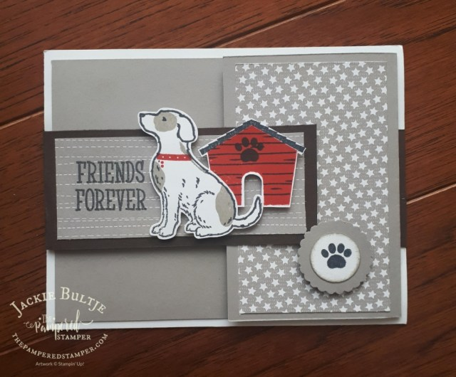 Happy Tails with neutrals designer series paper- this card made by my tribe