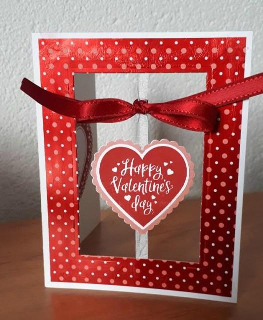 Happy Hearts floating heart card