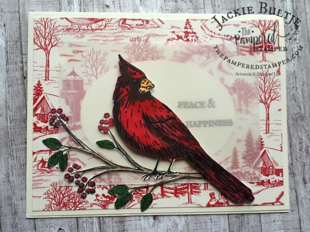 Cardinal Happy Mail featuring Toile Christmas