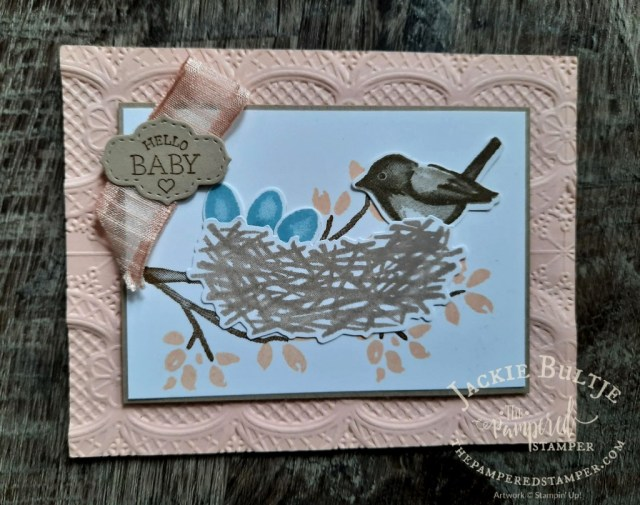 Birds and Branches Baby Card