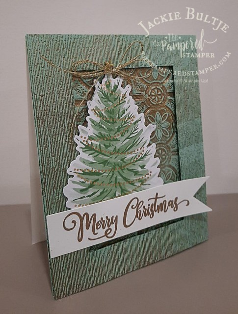gold embossed vintage tree card 2