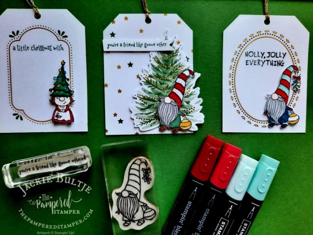 Gnome Christmas tags