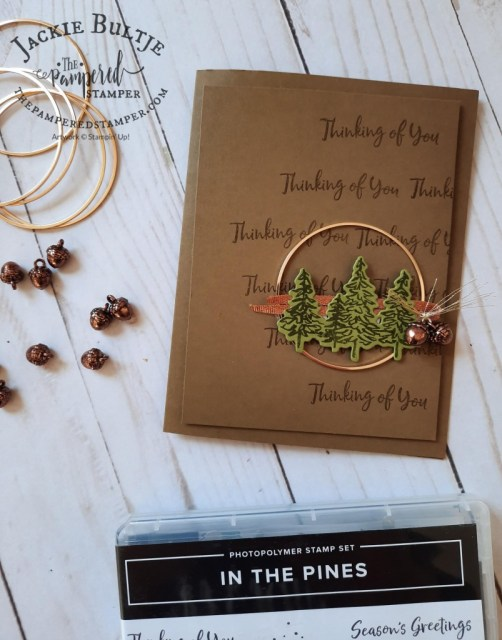Gold Hoop card with In The Pines