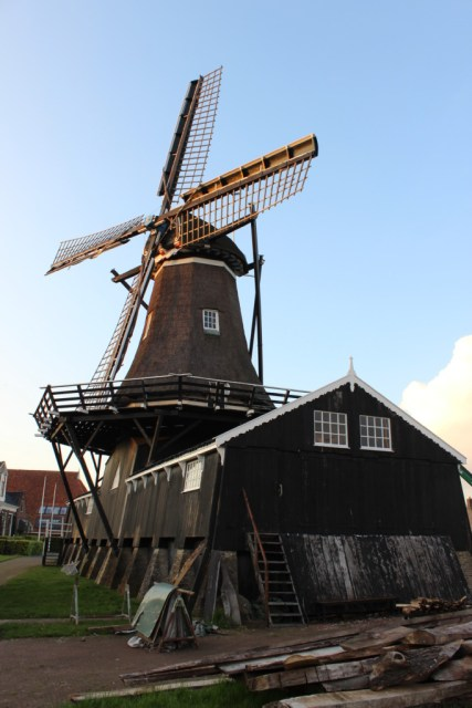 This windmill is actually a saw mill.