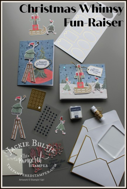 Christmas Whimsy card kit components.
