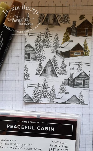 Peaceful Cabin paper transformed with Blends