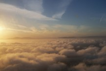 We take off into the clouds