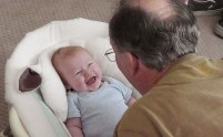 Fun with granddad Joel!