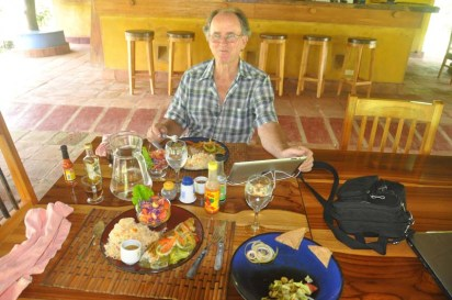 We had a great Caribbean lunch! It was a tasty as it was beautiful.