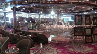 The art auction was going to happen later in the day, and they had a whole lot of paintings for sale.