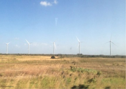 I don't remember seeing these windmills before. I have heard there are going to be more of them to try and decrease additional demands on the hydroelectric systems.
