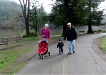 The stroller is OK but walking is more fun