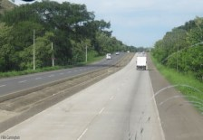 This is leaving Panama City. Between the city and Santiago you can expect four lane road all the way. The shoulders are in various states of smoothness but at least with four lanes there is a way for traffic to get around cyclists.