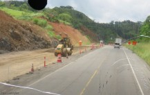 The other side of the road was in various states of construction.