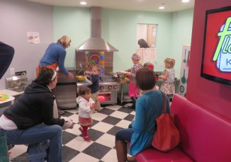 The kitchen seemed to be almost as popular with the little boys as it was with the girls.