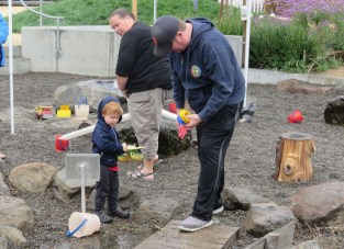 The most popular area though was the water play with various streams, tubs with activities, and water toys.
